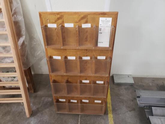 Wooden brochure box