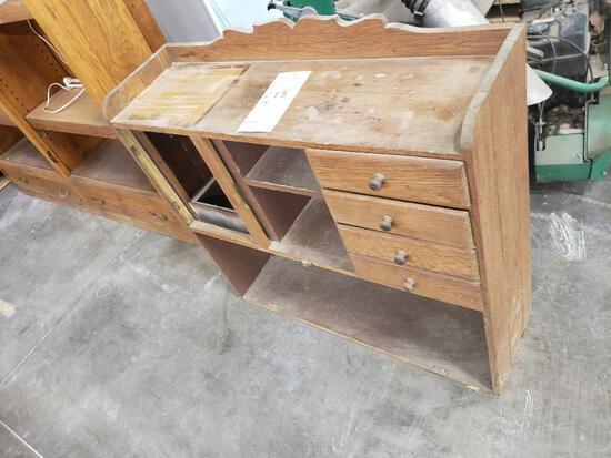 Antique kitchen cabinet topper