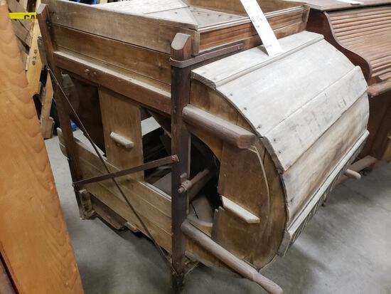 Antique wooden Grain Grader.
