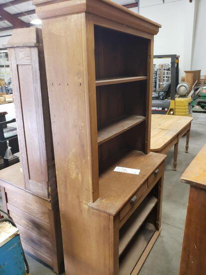 Wooden kitchen cupboard bookcase cabinet.