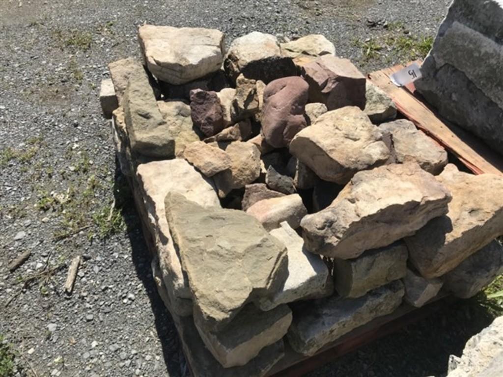 Skid of Mountain Stone Wall stones