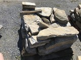 Skid of limestone corner and wall stones