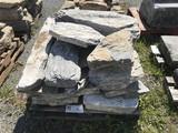 Skid of limestone stones