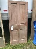 4 Panel Door with Victorian Lock
