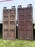 Pair of 8 Panel Rolling Track Doors