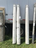 Set of 3 Circular Tapered Porch Posts