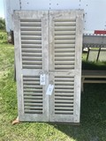 Pair of Shutters with Fixed Louvers