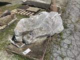Irregular limestone yard stone