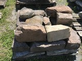 Skid of Sandstone and limestone corner and wall stones