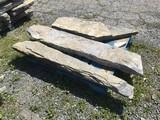 3 Limestone long pavers