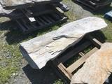 Primitive limestone Coping stone/step