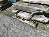 2 irregular shaped limestone walk/step