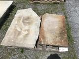 Pair of Slate Sidewalk Stones
