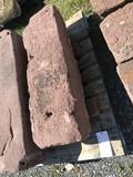 Red sandstone step