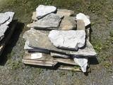 Skid of Limestone Irregular Shaped Pavers
