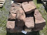 Skid of Red sandstone Corner stones