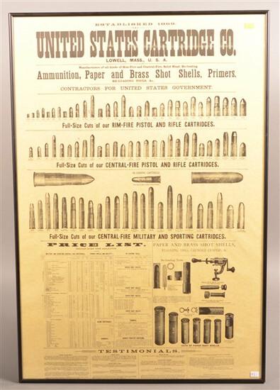 Framed U.S. Cartridge Advertisement