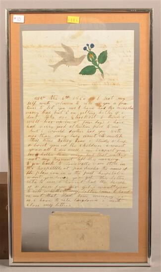 Framed Civil War Letter