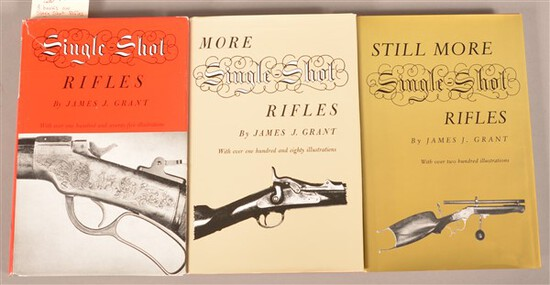 3 Books on Single Shot Rifles by James J. Grant