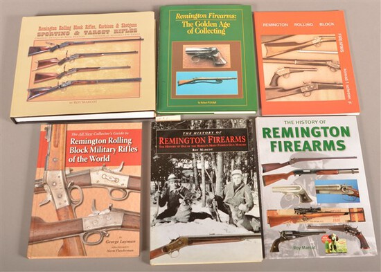 6 Reference Books on Remington Firearms