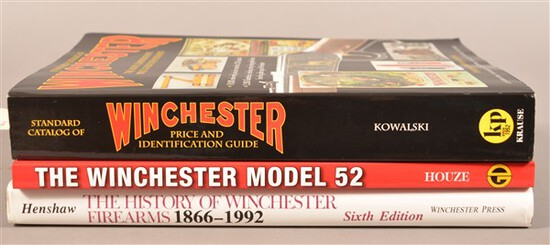 3 Reference Books on Winchester Firearms