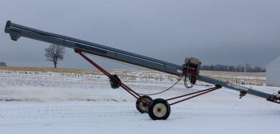 "Hutchinson 8""x33' transport load-out auger w/elec."