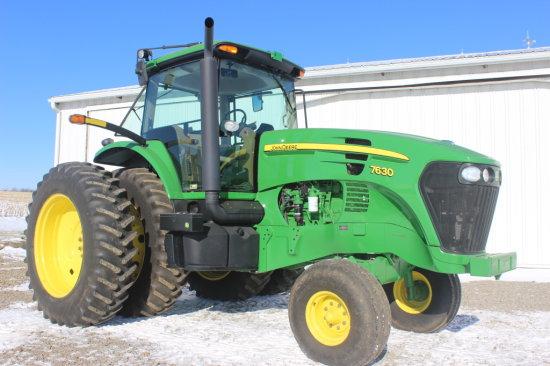 2010 John Deere 7630 Diesel 2 WD Tractor