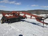 Hesston 1340 13' center pivot discbine, steel roll