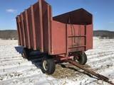 16' wood silage dump wagon