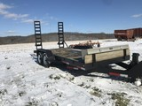 16' tandem axel bumper pull pentle hitch trailer