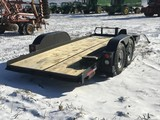 16' pentle hitch HD tandem axle skid loader trailr