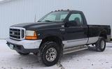 2000 Ford F-250 Black 4x4 pickup w/reg. cab, 5.3L V-8, auto, long bed, 187K