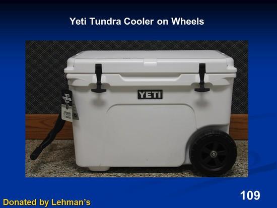 Yeti Tundra Cooler on Wheels