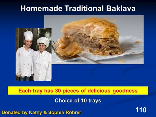 Tray of Authentic Baklava - (choice of 10)