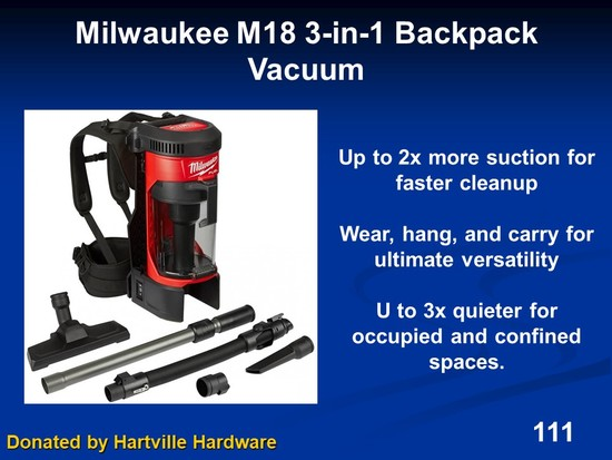 3-in-1 Backpack Vacuum - Milwaukee M18 Fuel w/attachments)