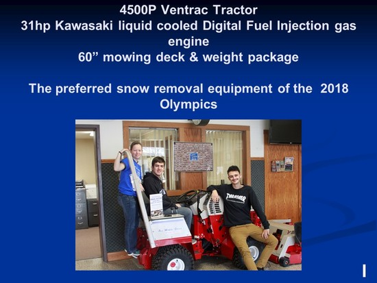 Ventrac Tractor & Mower - Buyer can choose a different model and pay difference