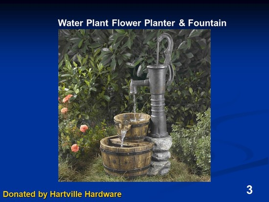 Water Pump Flower Planter and Fountain