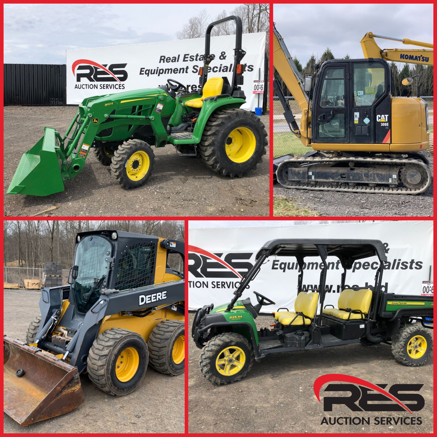 RES Equipment Yard Auction | RES Auction Services | RES