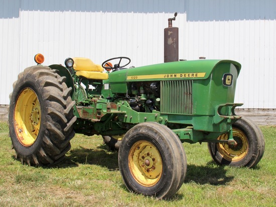 1971 JD 1020 2 WD gas open station tractor 12,592 hrs.