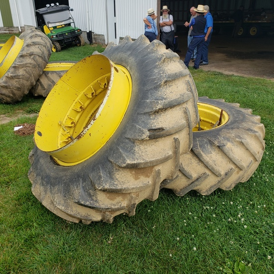 Pair of  18.4 x 34 clamp on duals