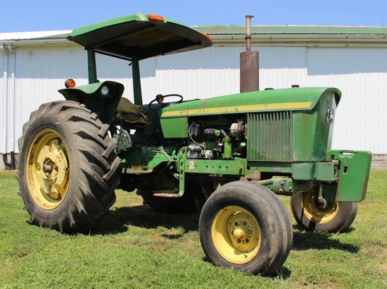 1975 JD 2630 D. 2 WD tractor w/canopy 8172 hrs.