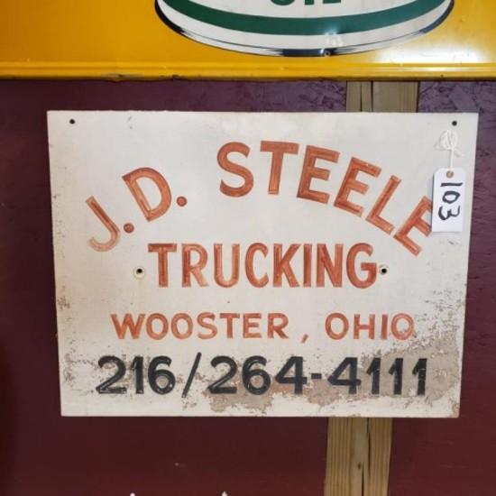 J.D. Steele Trucking Sign