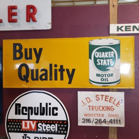"Quaker State ""Buy Quality"" Sign"