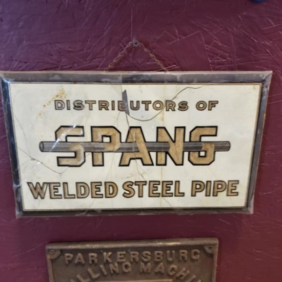 Spang Welded Steel Pipe Sign