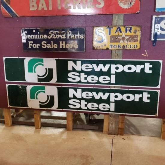 (2) Newport Steel Sign