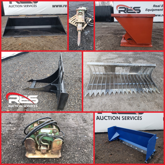 RES Equipment Yard Auction - Attachments Ring