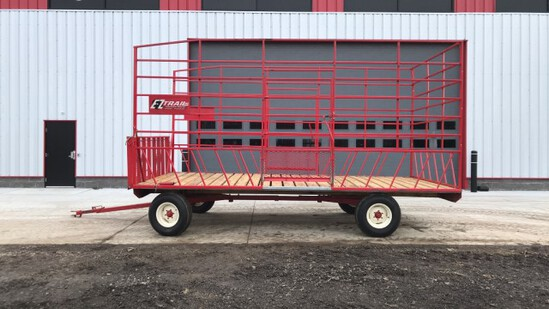 """ABSOLUTE"" EZ Trail 18' Kick Bale Wagon"