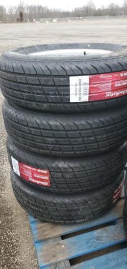 Set/ 4 New ST205/75-15 Trailer Tires/Wheels