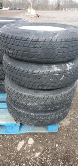 Set/ 4 New ST235/80-16 Trailer Tires/Wheels