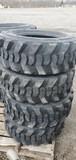 Set/ 4 New 10-16.5 Skid Steer Tires